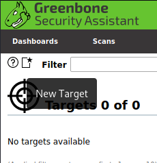 OpenVAS New target