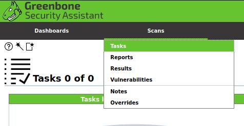 OpenVAS tasks 001